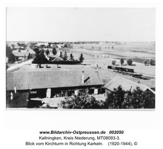 Herdenau, Blick vom Kirchturm in Richtung Karkeln