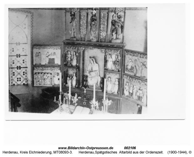Herdenau, Kirche, Spätgotisches Altarbild aus der Ordenszeit