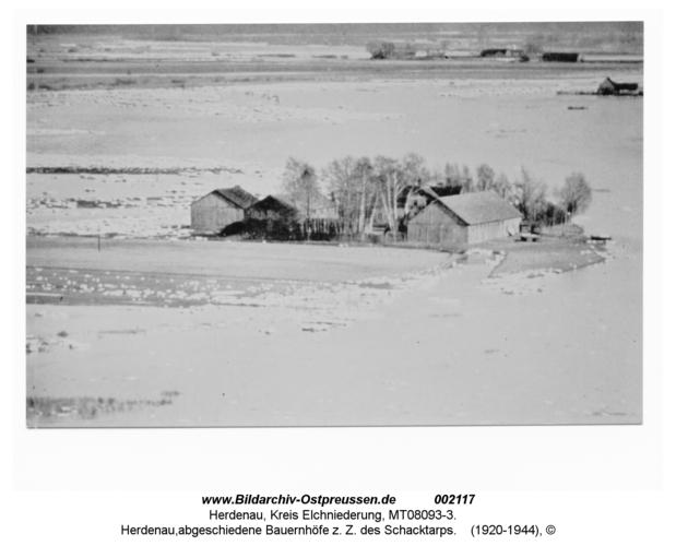 Herdenau, abgeschiedene Bauernhöfe z. Z. des Schacktarps