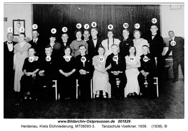 Herdenau, Tanzschule Voelkner, 1938