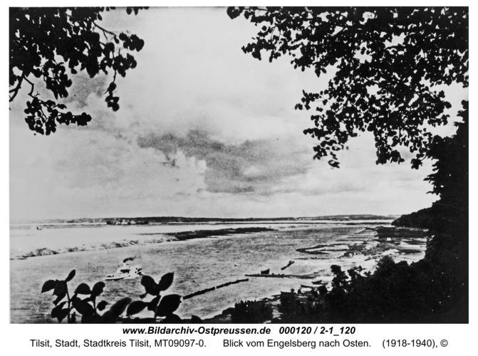 Tilsit, Blick vom Engelsberg nach Osten