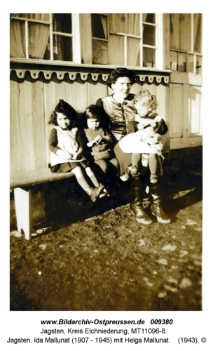 Jagsten. Ida Mallunat (1907 - 1945) mit Helga Mallunat