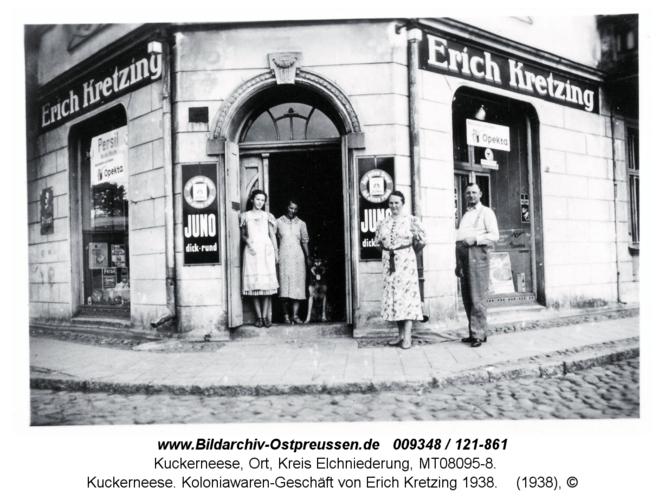 Kuckerneese. Koloniawaren-Geschäft von Erich Kretzing 1938