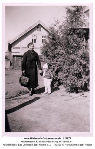 Kuckerneese. Ella Lehmann geb. Nienke mit Wolfgang Nienke aus Herdenau