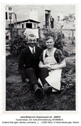 Ewald & Ella (geb. Nienke) Lehmann in der Dammstraße 5 in Kuckerneese