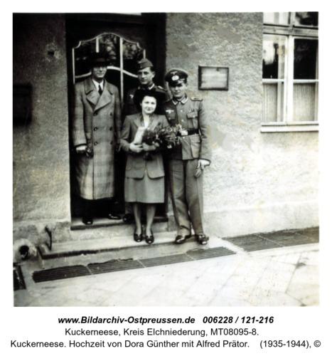 Kuckerneese. Hochzeit von Dora Günther mit Alfred Prätor