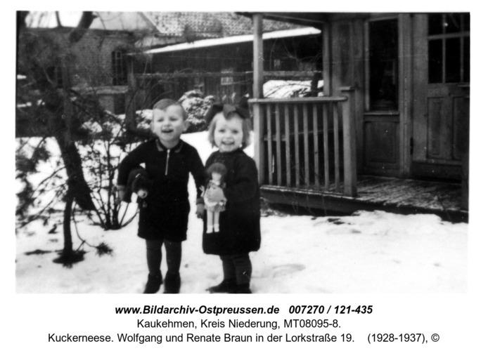Kuckerneese. Wolfgang und Renate Braun in der Lorkstraße 19