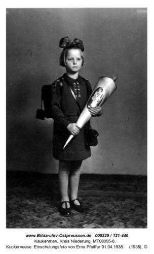 Kuckerneese. Einschulungsfoto von Erna Pfeiffer 01.04.1938