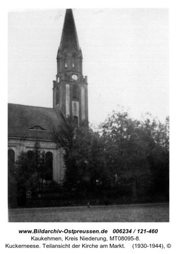 Kuckerneese. Teilansicht der Kirche am Markt