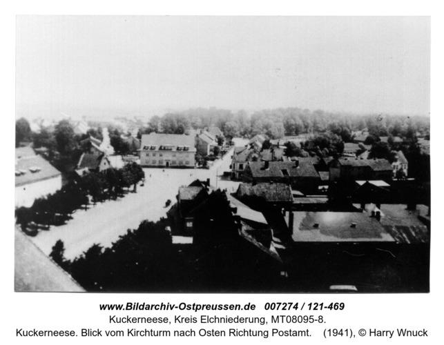 Kuckerneese. Blick vom Kirchturm nach Osten Richtung Postamt