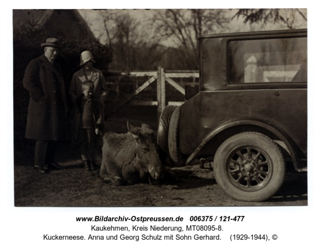 Kuckerneese. Anna und Georg Schulz mit Sohn Gerhard