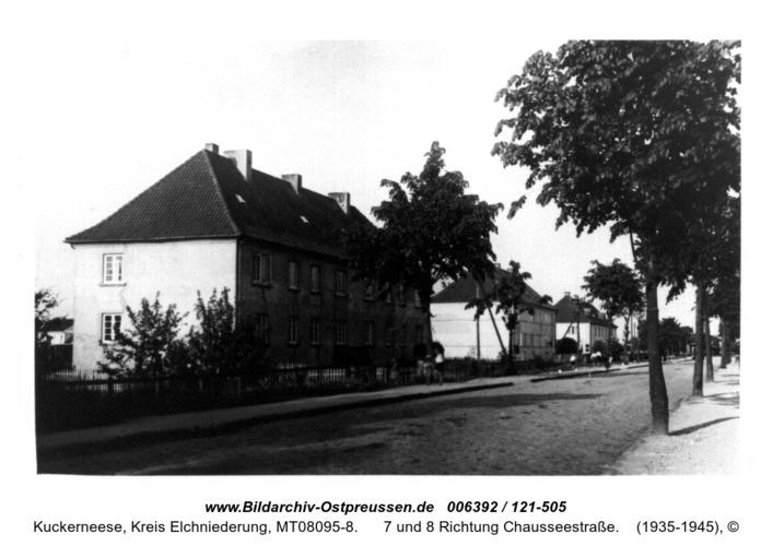 Kuckerneese. Beamtenhäuser - Post.Dammstraße 6, 7 und 8 Richtung Chausseestraße
