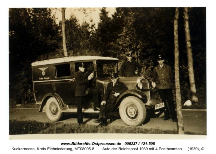 Kuckerneese, Auto der Reichspost 1939 mit 4 Postbeamten