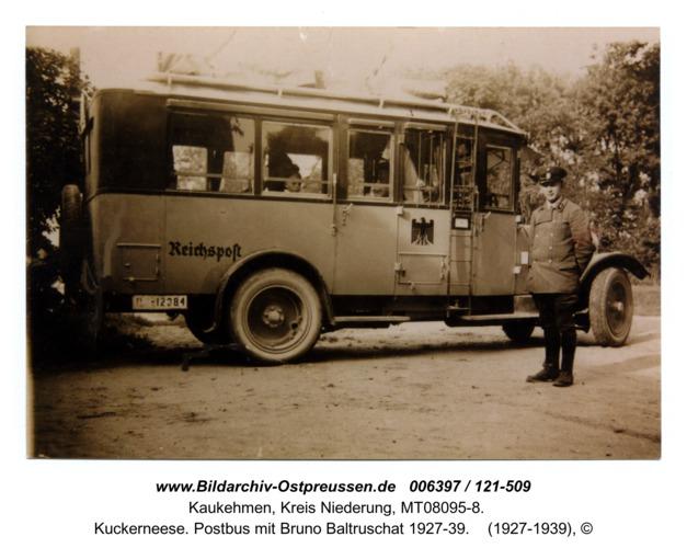 Kuckerneese. Postbus mit Bruno Baltruschat 1927-39
