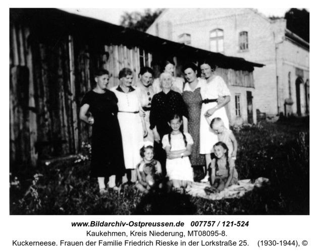 Kuckerneese. Frauen der Familie Friedrich Rieske in der Lorkstraße 25
