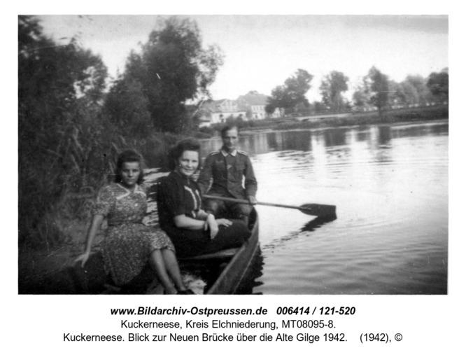 Kuckerneese. Blick zur Neuen Brücke über die Alte Gilge 1942