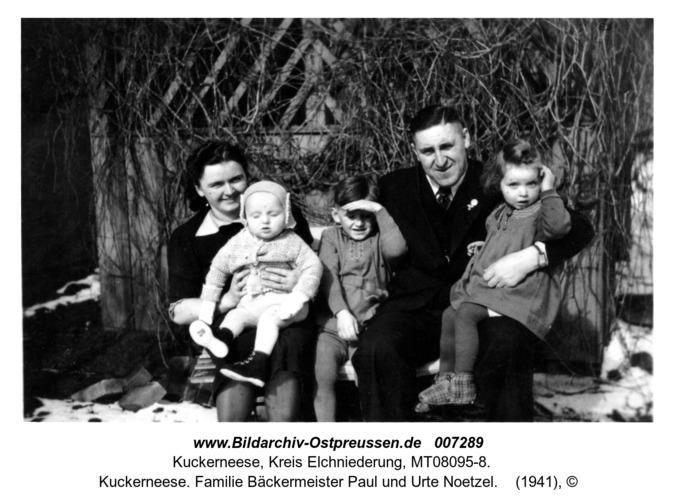 Kuckerneese. Familie Bäckermeister Paul und Urte Noetzel