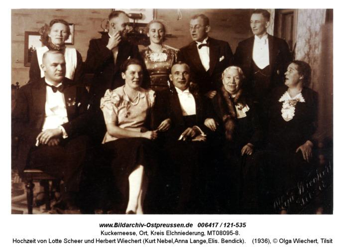 Kuckerneese, Hochzeit von Lotte Scheer und Herbert Wiechert (Kurt Nebel,Anna Lange,Elis. Bendick)