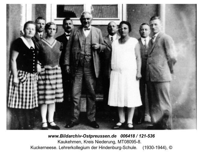 Kuckerneese. Lehrerkollegium der Hindenburg-Schule