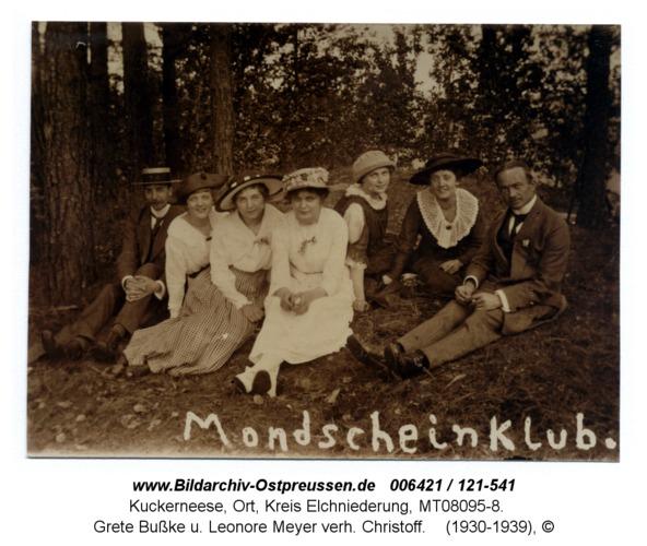 Kuckerneese. Mondscheinklub mit Trude Eywill, Grete Bußke u. Leonore Meyer verh. Christoff