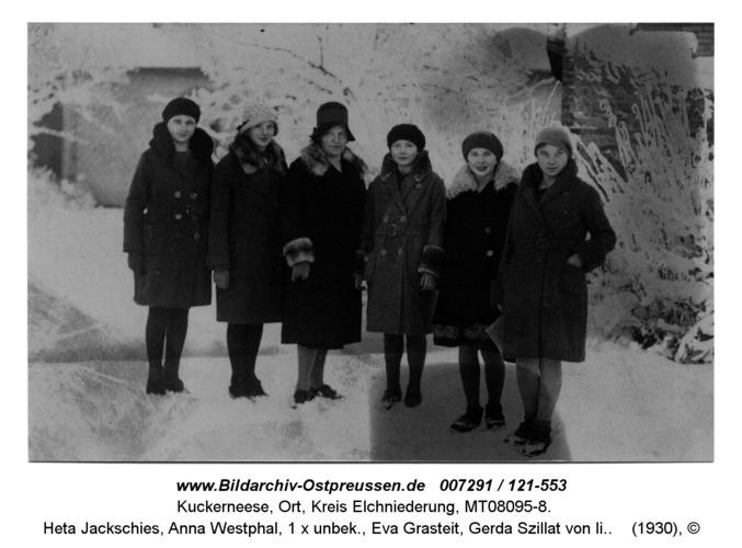 Kuckerneese. Charlotte Jakumeit, Heta Jackschies, Anna Westphal, 1 x unbek., Eva Grasteit, Gerda Szillat von li.