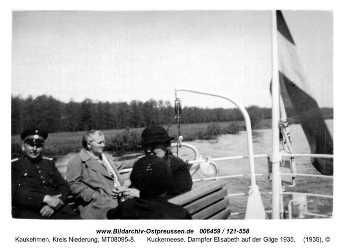 Kuckerneese. Dampfer Elisabeth auf der Gilge 1935