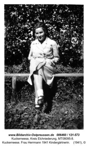 Kuckerneese. Frau Herrmann 1941 Kindergärtnerin