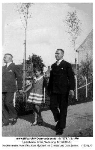 Kuckerneese. Von links: Kurt Myckert mit Christa und Otto Zomm