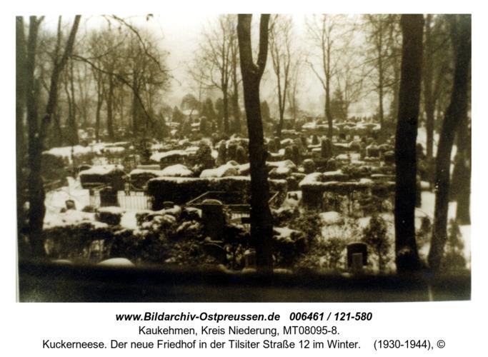 Kuckerneese. Der neue Friedhof in der Tilsiter Straße 12 im Winter