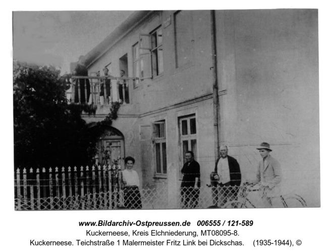 Kuckerneese. Teichstraße 1 Malermeister Fritz Link bei Dickschas