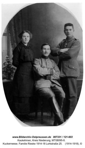 Kuckerneese. Familie Rieske 1914-18 Lorkstraße 25