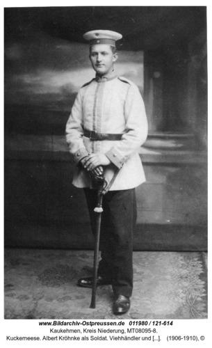 Kuckerneese. Albert Kröhnke als Soldat. Viehhändler und Vater von Hans