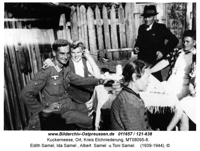 Kuckerneese. V.li.: Verlobter von Edith Samel, Edith Samel, Ida Samel, Albert Samel u.Toni Samel