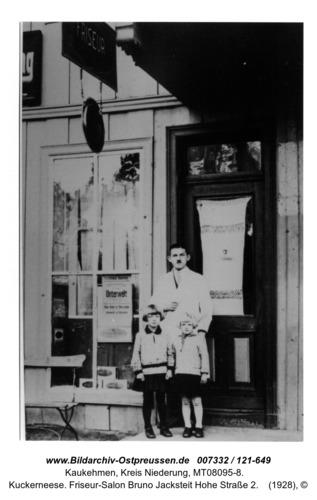 Kuckerneese. Friseur-Salon Bruno Jacksteit Hohe Straße 2