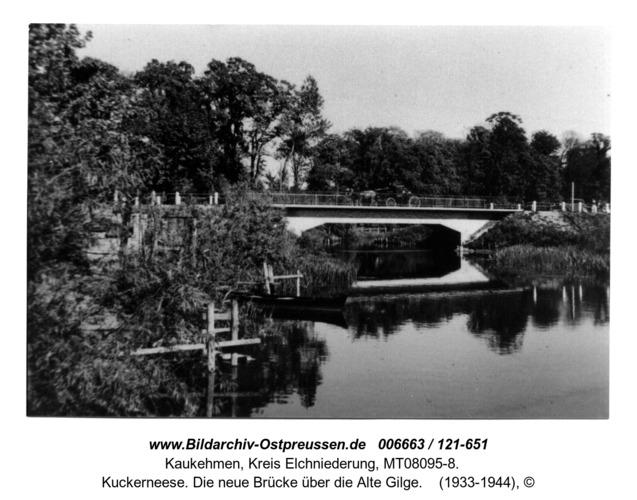 Kuckerneese. Die neue Brücke über die Alte Gilge