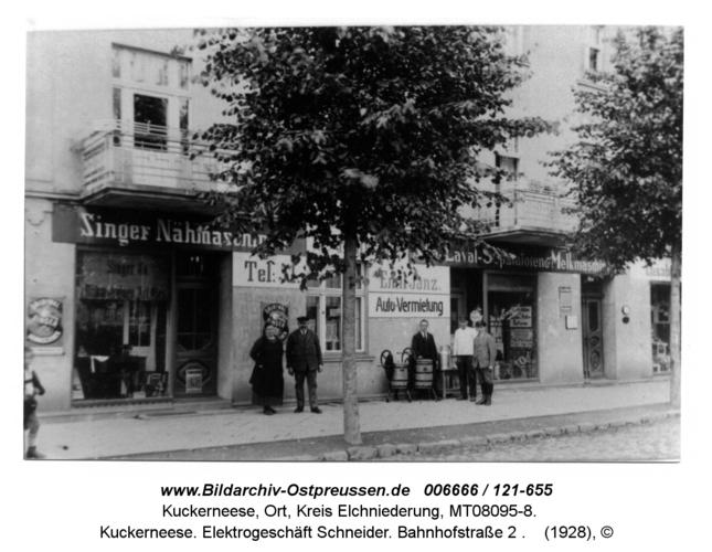 Kuckerneese. Elektrogeschäft Schneider. Bahnhofstraße 2
