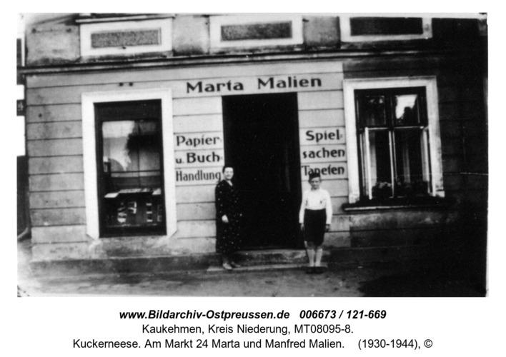 Kuckerneese. Am Markt 24 Marta und Manfred Malien