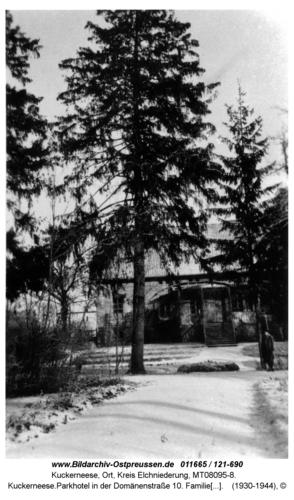 Kuckerneese.Parkhotel in der Domänenstraße 10. Familie Dannhauer. Vorher Wiesenberg