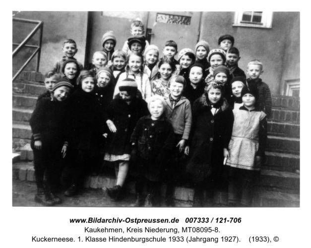 Kuckerneese. 1. Klasse Hindenburgschule 1933 (Jahrgang 1927)