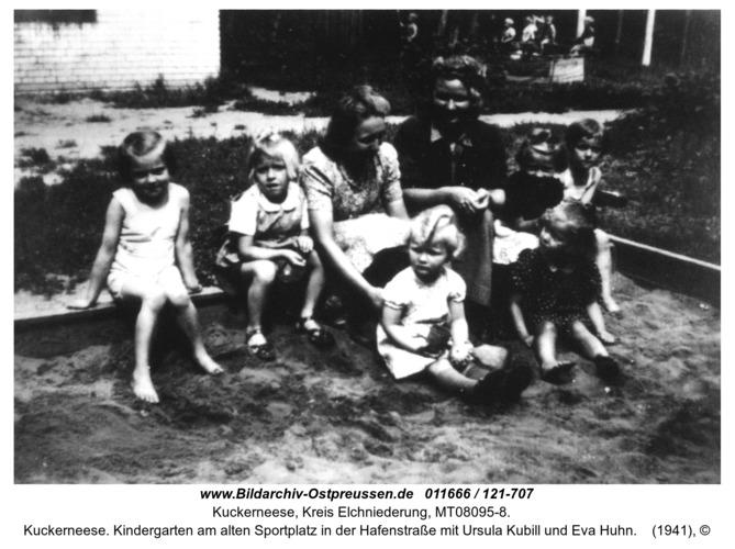 Kuckerneese. Kindergarten am alten Sportplatz in der Hafenstraße mit Ursula Kubill und Eva Huhn