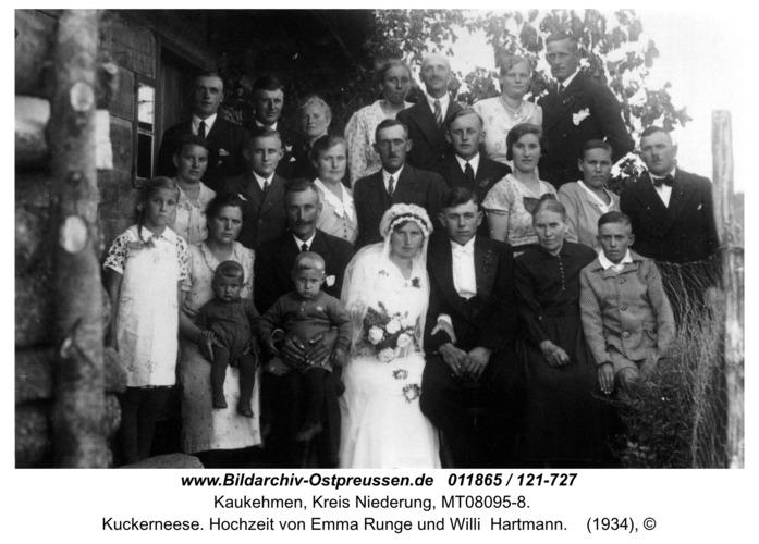 Kuckerneese. Hochzeit von Emma Runge und Willi  Hartmann