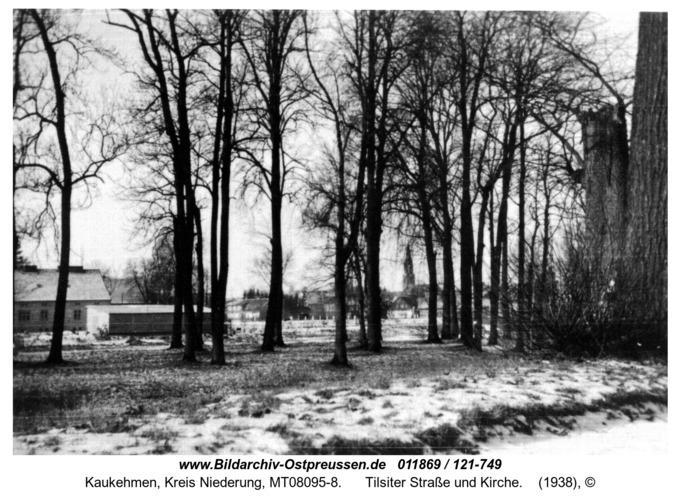 Kuckerneese. Blick vom Jahnpark zur Alten Gilge, Tilsiter Straße und Kirche