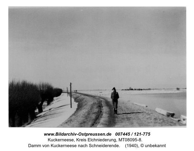 Damm von Kuckerneese nach Schneiderende Hochwasser April 1940