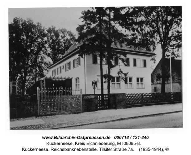 Kuckerneese. Reichsbanknebenstelle. Tilsiter Straße 7a