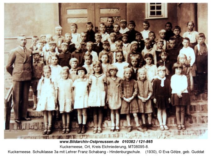 Kuckerneese. Schulklasse 3a mit Lehrer Franz Schabang - Hindenburgschule