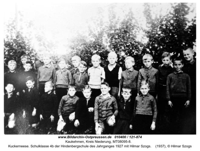 Kuckerneese. Schulklasse 4b der Hindenbergschule des Jahrganges 1927 mit Hilmar Szogs