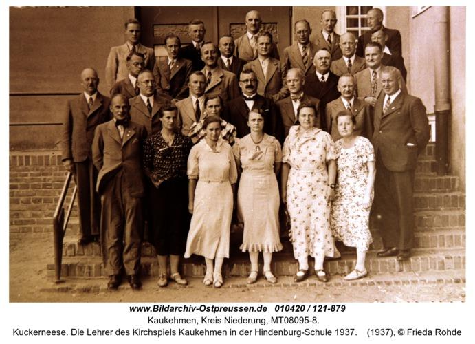 Kuckerneese. Die Lehrer des Kirchspiels Kaukehmen in der Hindenburg-Schule 1937