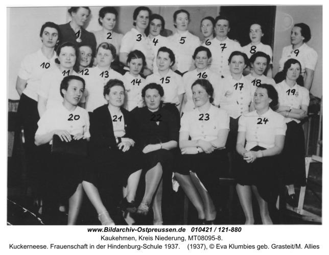 Kuckerneese. Frauenschaft in der Hindenburg-Schule 1937
