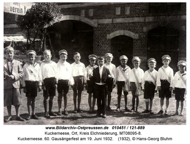 Kuckerneese. 60. Gausängerfest am 19. Juni 1932
