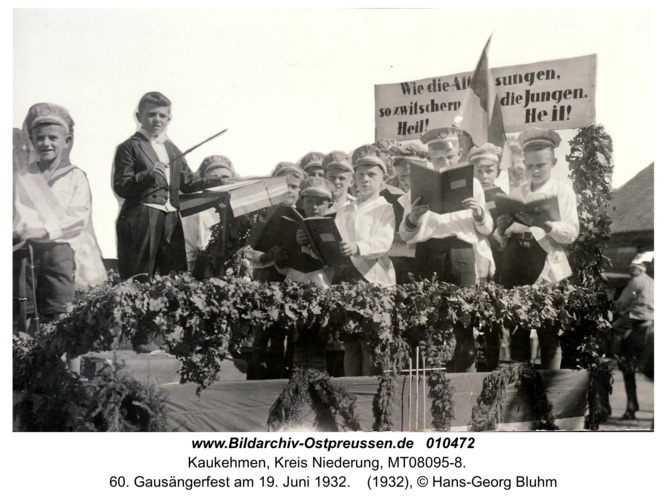 Kaukehmen, 60. Gausängerfest am 19. Juni 1932